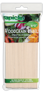 815 50 Woodgrain Plant Labels